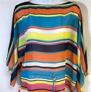 Chaps Multi-Coloured Stripe Blouse